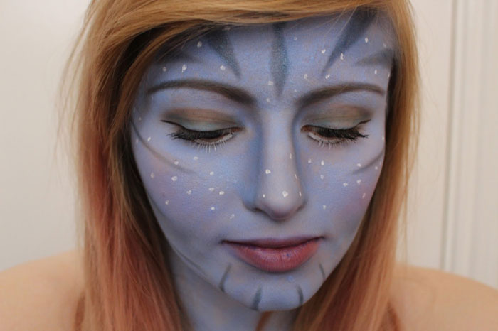 Creepy Halloween Makeup - Avatar