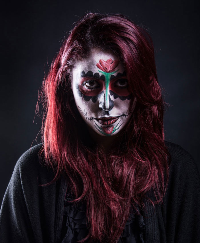 Scary Halloween Makeup - Black Vampire