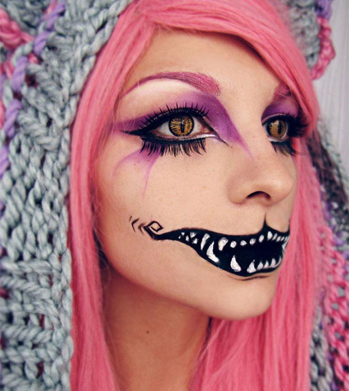 Creepy Halloween Makeup - Cheshire Cat