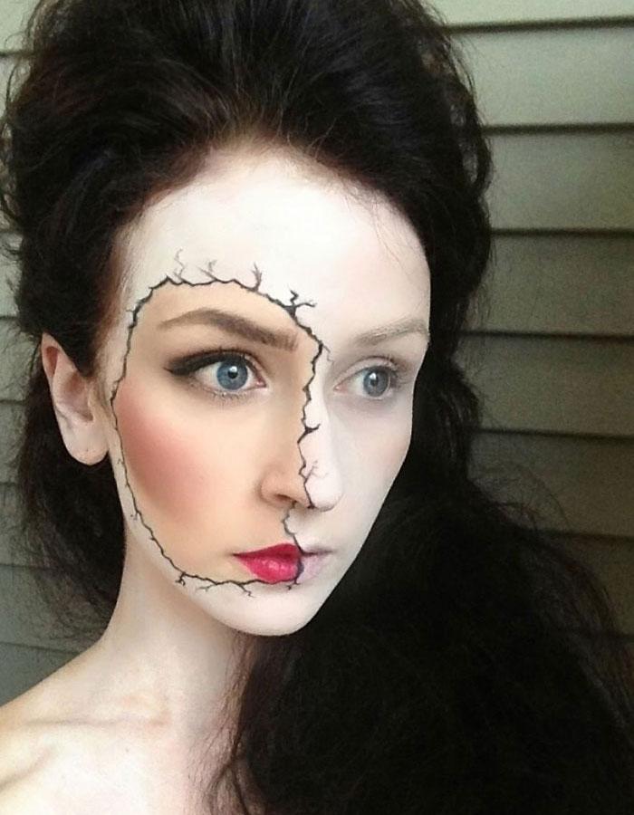 Halloween Makeup Ideas - Cracked Makeup