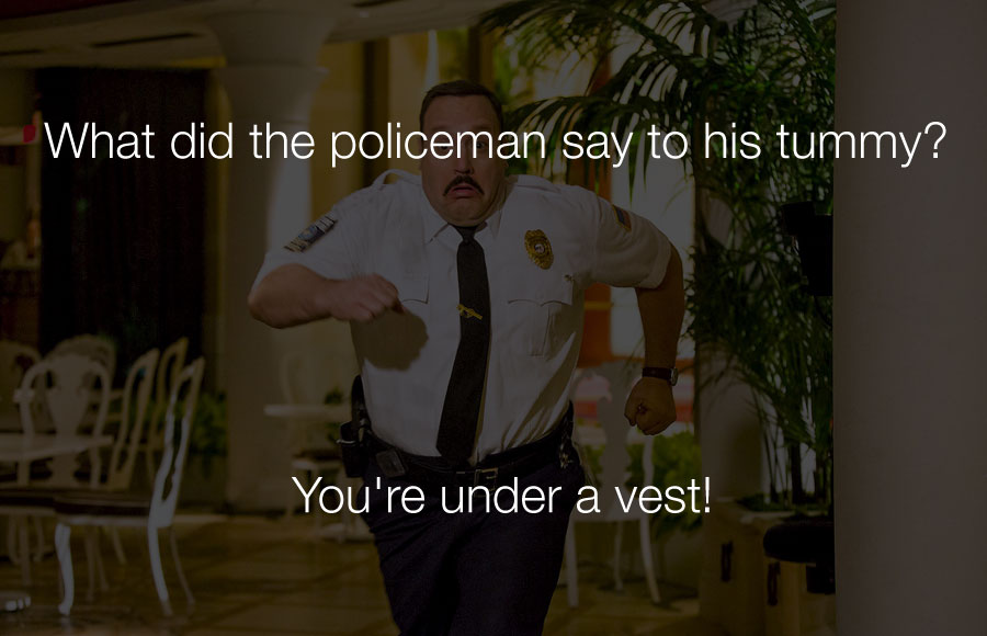 Hilarious Jokes - What did the policeman say to his tummy.