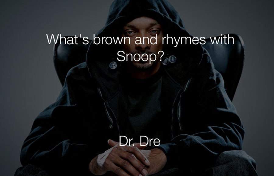 Hilarious Jokes - Whats brown and rhymes with snoop.