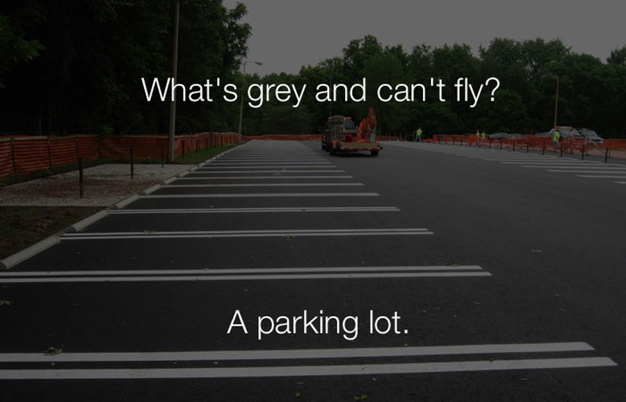 Funny Jokes - Whats grey and cant fly.