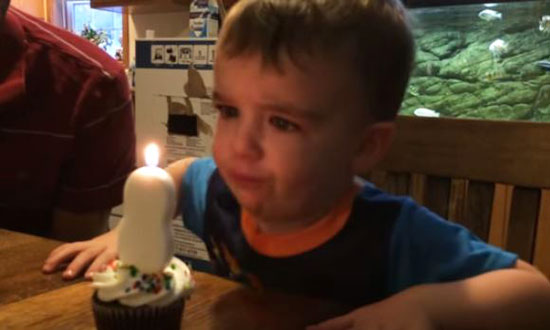Adorable Kid Just Can't Blow Out Birthday Candle. Dad Steps in With a Clever Hack. GENIUS!