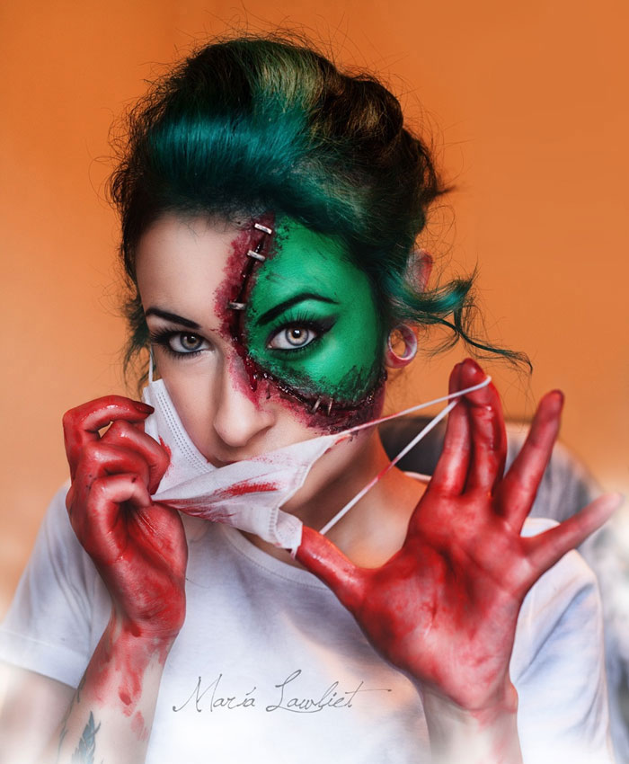 Creepy Halloween Makeup - Creepy Nurse