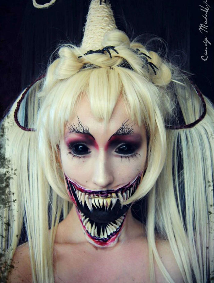 Scary Halloween Makeup - Demon Girl