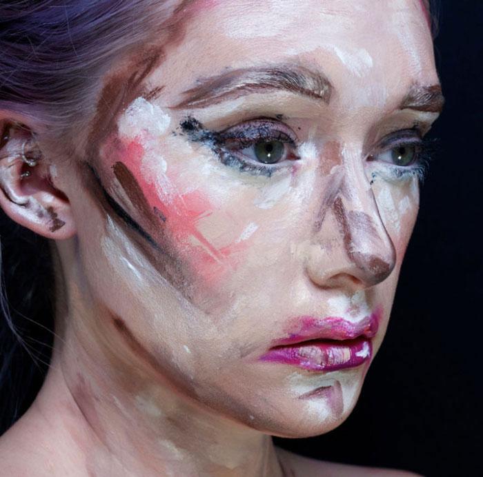 Creepy Halloween Makeup - Impressionist Painting
