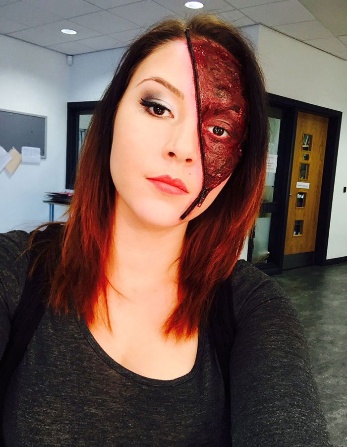 Halloween Makeup Ideas - Zip Face