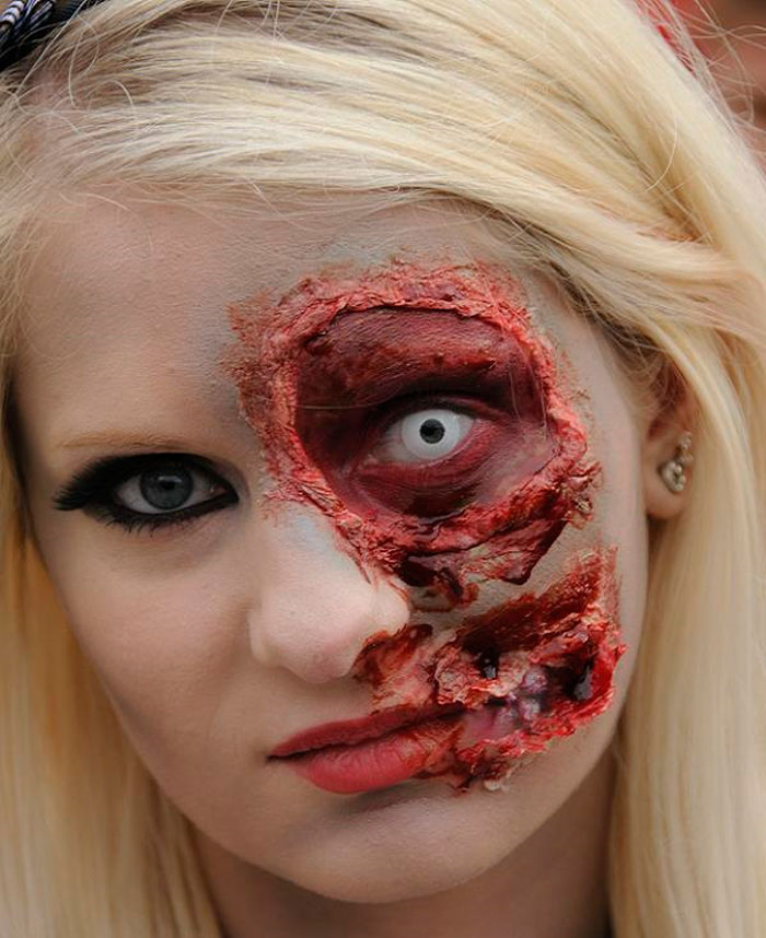 Halloween Makeup Ideas - Zombie Face