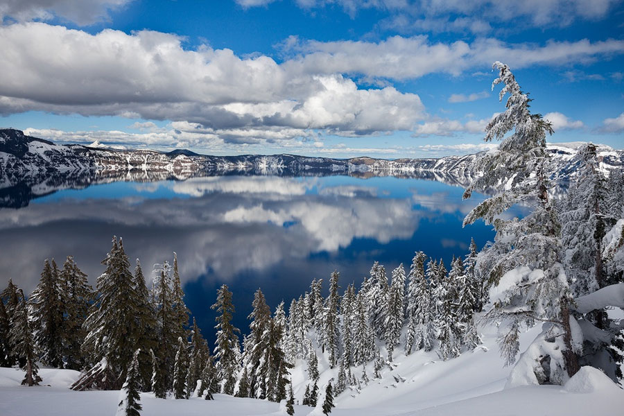 Winter Scenes - Crater Lake, Oregon, United States