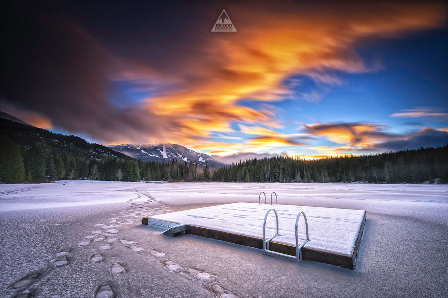 Winter Pictures - Frozen Lost Lake in Whistler, British Columbia