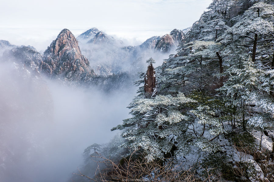 Winter Landscape - Huangshan Mountain, China