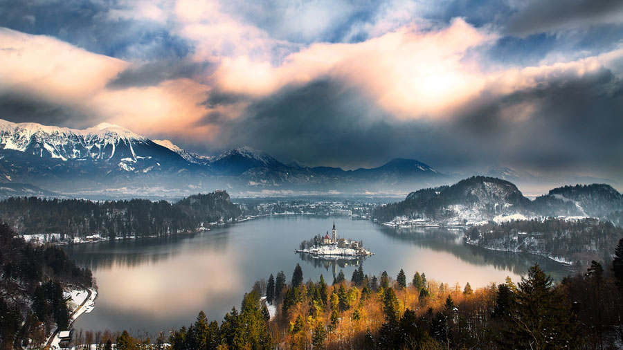 Winter Scenes - Lake Bled, Slovenia