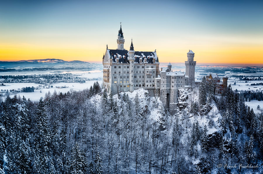 Winter Scenes - Neuschwanstein Castle, Germany
