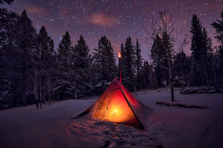Winter Landscape - Winter Camping