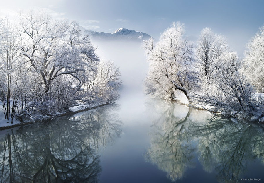 Winter Scenes - Winter Morning in Bavaria, Germany