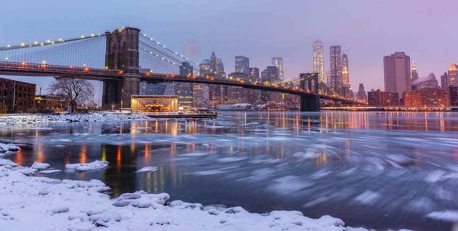Winter Landscape - Brooklyn Bridge, New York, United States