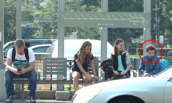 Poor Little Girl Is Being Cruelly Bullied at The Bus Stop. Watch How People React