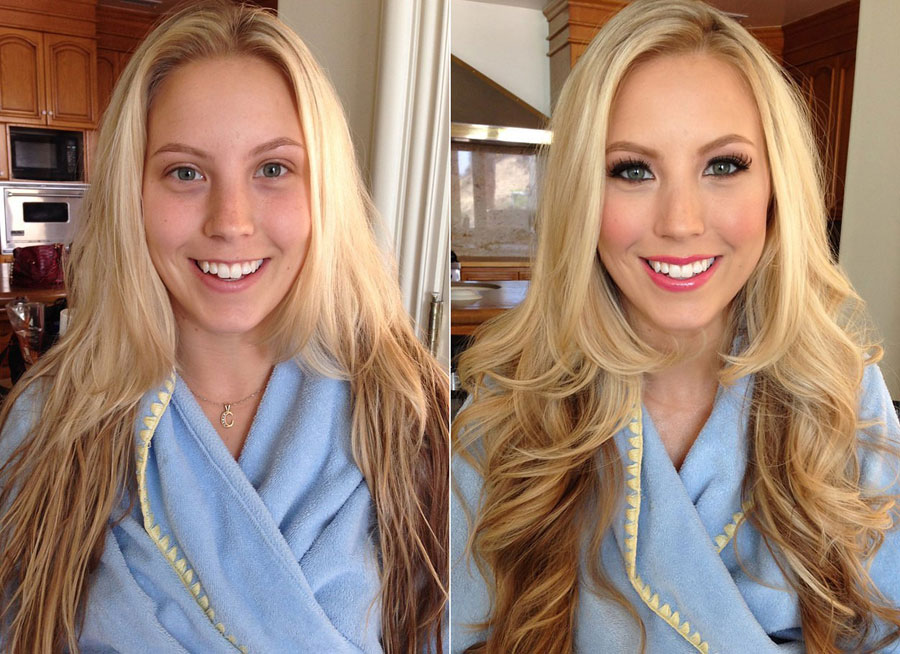 Before and After Makeup Transformation Photos - Chanel Elle