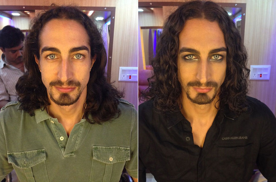 Stunning Before and After Makeup Photos - Adam Bedi