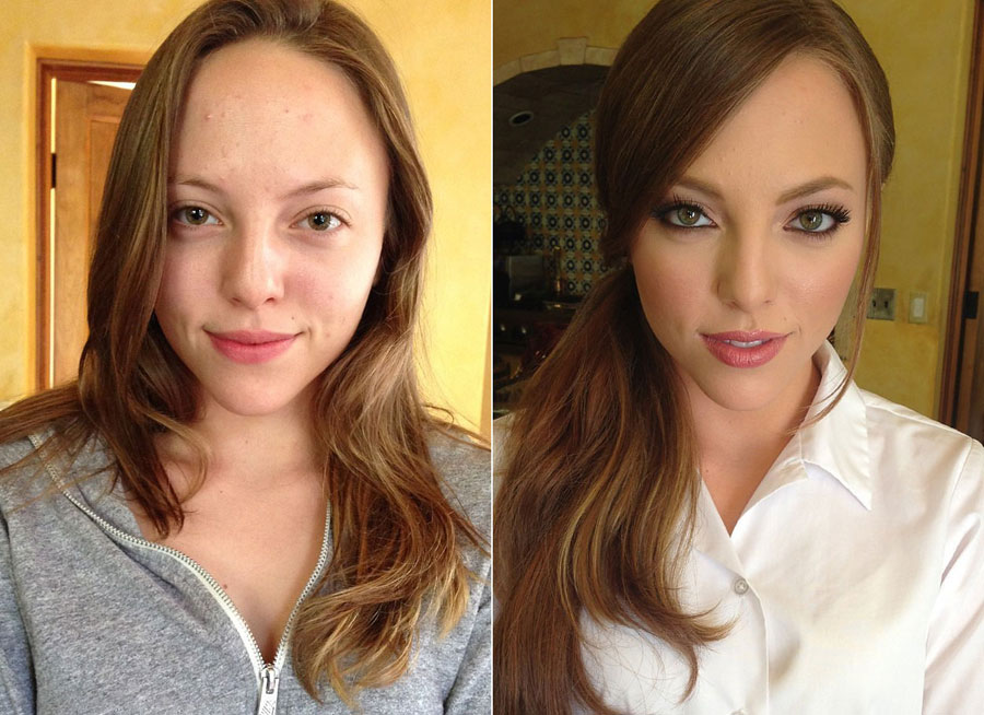 Incredible Before and After Makeup Photos - Aubrey Star