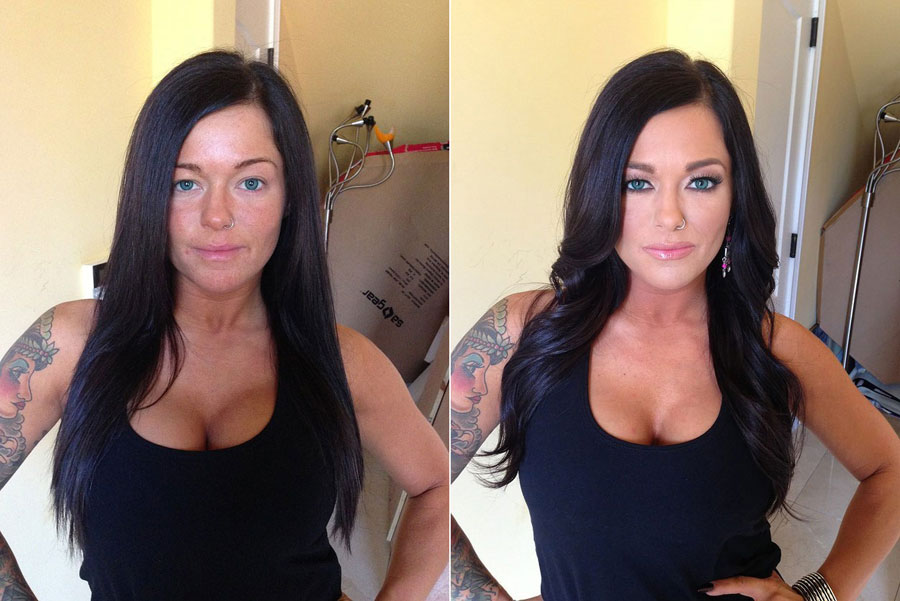 Before and After Makeup Transformation Photos - Crista Moore