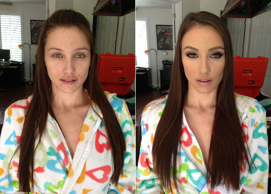 Stunning Before and After Makeup Photos - Celeste Star