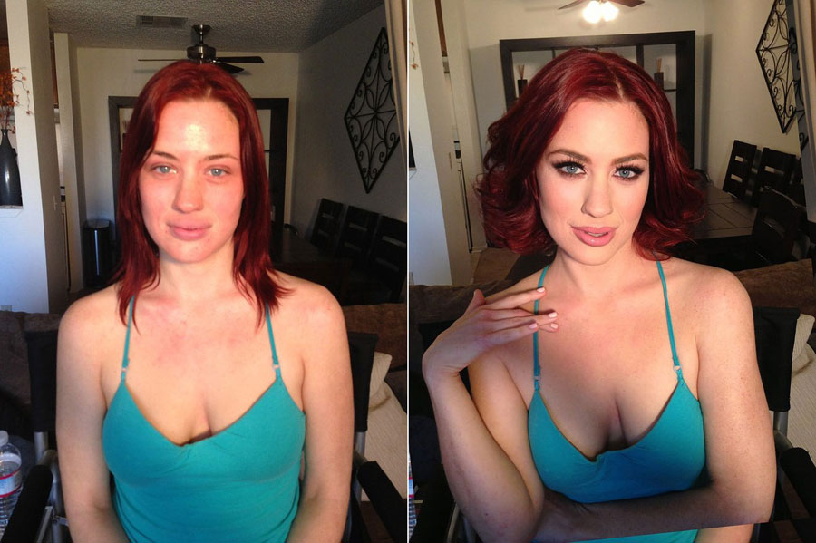 Before and After Makeup Transformation Photos - Jessica