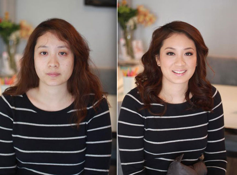 Before and After Makeup Transformation Photos