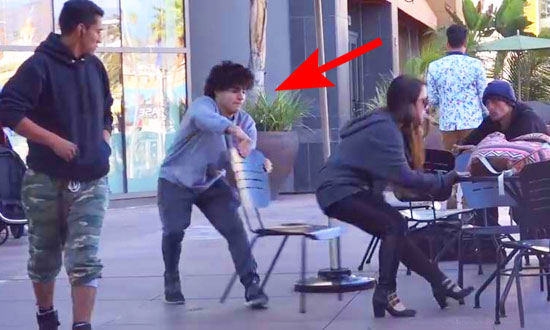 See What Happens When This Guy Pulls Chair Out From Under Girls. Hilarious!