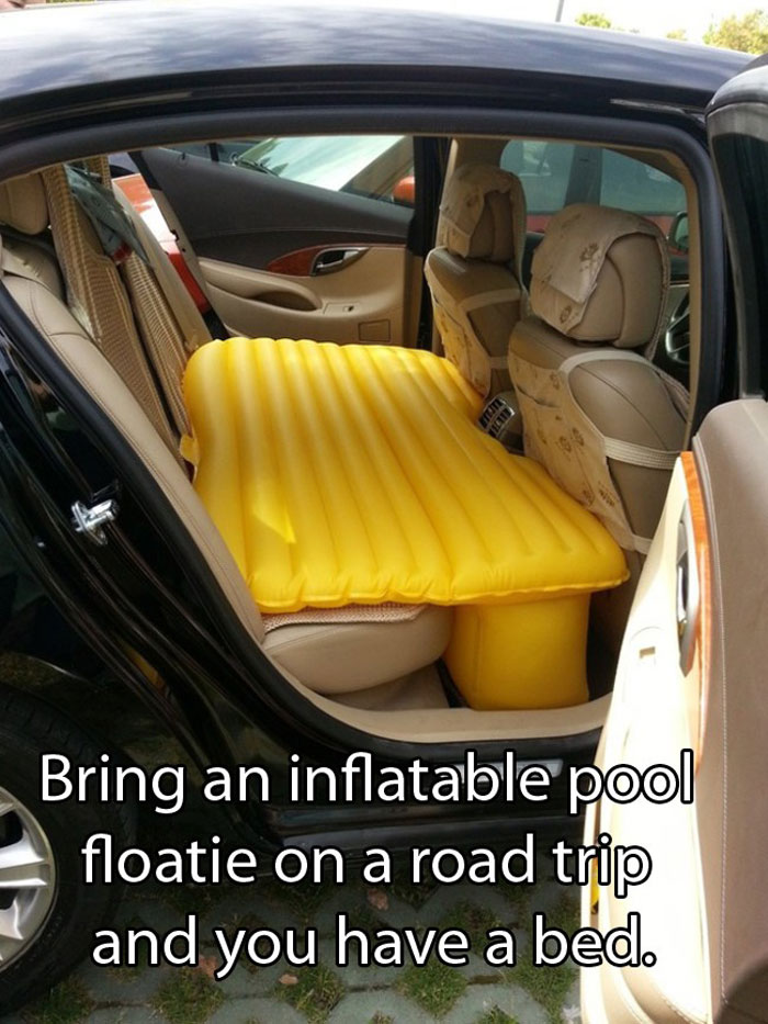 Crazy Car Hacks - Need a comfortable bed while travelling
