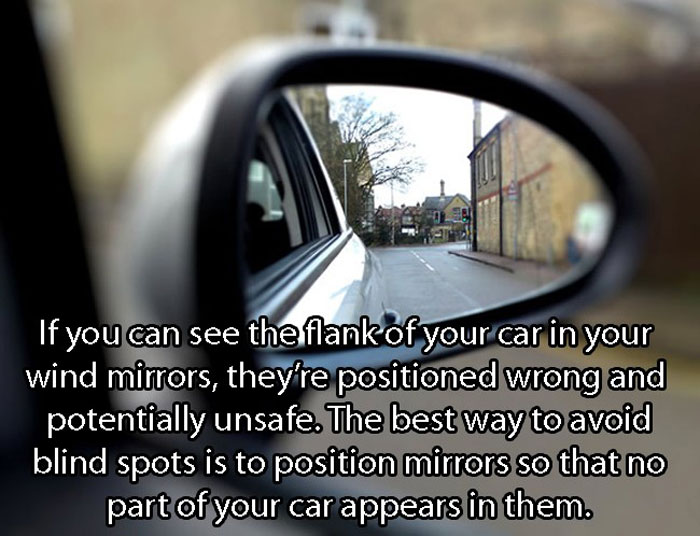 Crazy Car Hacks - Correct way to position car wind mirrors