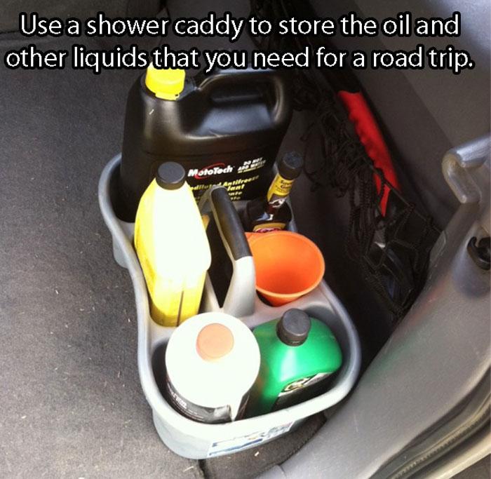 Car Hacks - Keep your car liquids all together