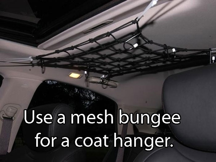 Car Life Hacks - Where to hang your coat in the car