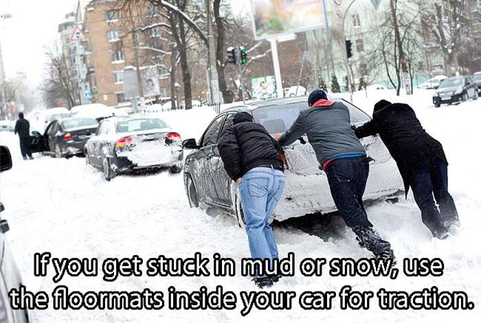 Car Hacks - Stuck in a mud? No problem