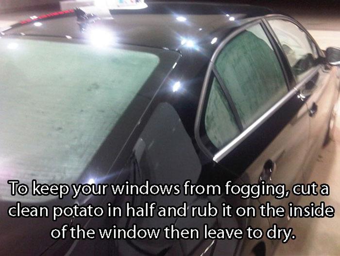 Crazy Car Hacks - How to get rid of inside fogging windows