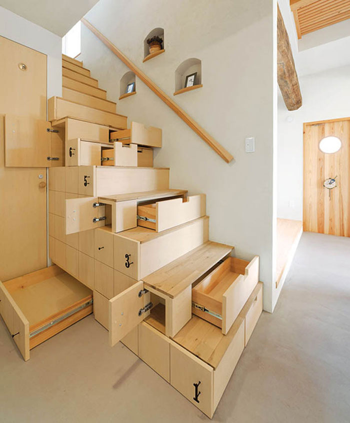 Innovative Furniture Design - Stairs with drawers and shelves