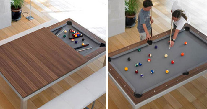Unique Furniture Designs - Fusion dining and pool table