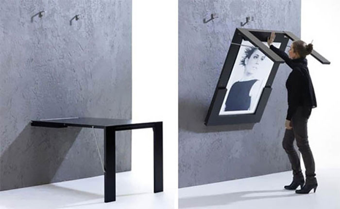 Creative Furniture Designs - Fold-up picture table