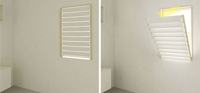 Unique Furniture Designs - Window blinds folds as a rack