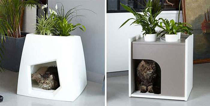 Unique Furniture Designs - Cat house planter