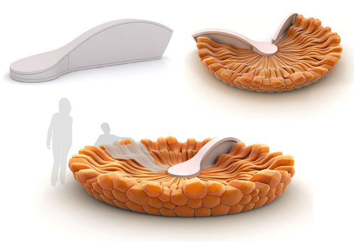 Innovative Furniture Design - Round folding sofa