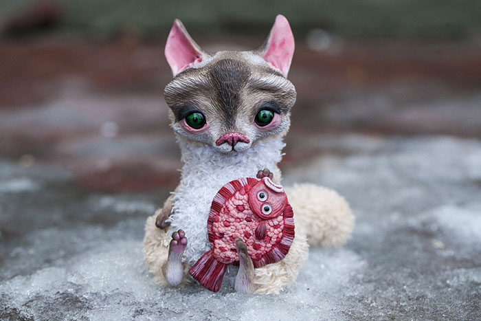 Cute Clay Models - Kitty & Flounder