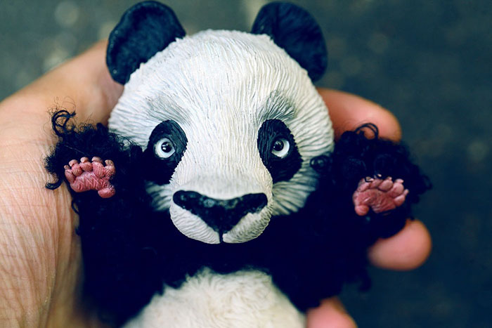 Cute Clay Models - Panda Paws