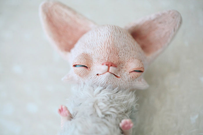 Cute Clay Models - Sleepy Fox