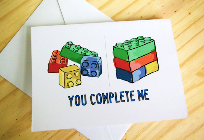 Nerdy Valentine's Day Cards - You complete me
