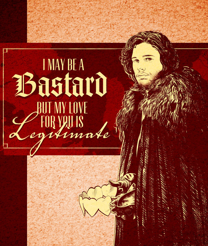 Valentine's Day Cards Ideas - I am a bastard but my love for you is legitimate