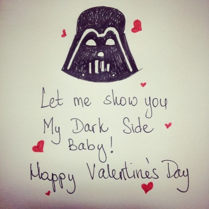 Nerdy Valentine's Day Cards - Let me show you my dark side baby! Happy Valentine's day