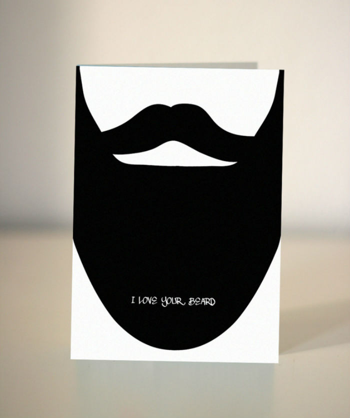 Valentine's Day Card Messages - I love your beard