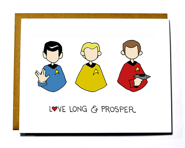 Nerdy Valentine's Day Cards - Love long and prosper